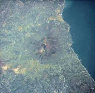 View of Etna from the satellite